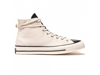 X FEAR OF GOD ESSENTIAL CHUCK TAYLOR ALL STAR 1970S HI IVORY/BLACK/EGRET