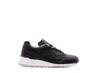 NEW BALANCE 997 BISON LEATHER PACK BLACK WHITE MADE IN USA M997BSO