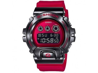 CASIO G-SHOCK METAL BEZEL 6900 RED GM6900B-4