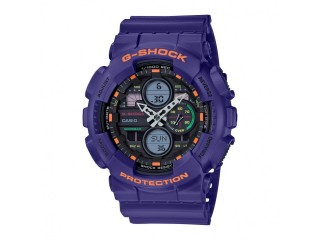 CASIO G-SHOCK ANALOG DIGITAL PURPLE GA140-6A