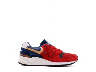 NEW BALANCE MADE IN USA PIG SUEDE MESH RED MEN M999WEB