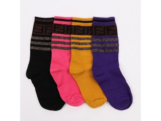 Fendi 4 in 1 Pack Socks