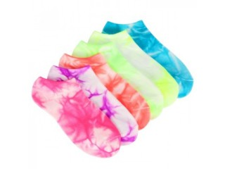 Sofsole  6 Pack Tie Dye No Show Socks
